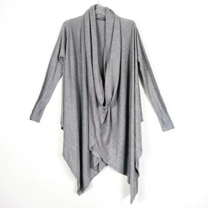 Lovestitch Grey Cowl Neck Poncho Sweater